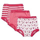 Luvable Friends 3-Pack Water Resistant Training Pants, Flamingo, 4T
