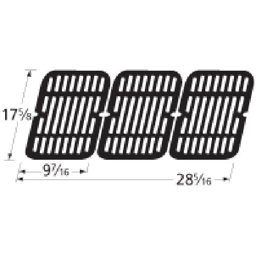 Music City Metals 54193 Stamped Porcelain Steel Cooking Grid Replacement for Select Brinkmann Gas Grill Models, Set of 3