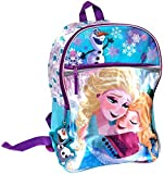 Disney Frozen Elsa & Anna Sisters Forever with Olaf Glitter & Satin Backpack