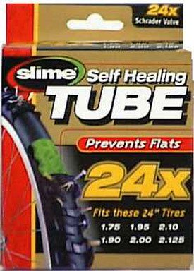 Slime Smart Tube Schrader Valve Bicycle Tube (24 x 1.75-2.125)