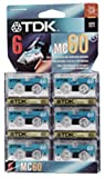 TDK MC60-6PK Microcassette Recording Tape