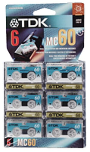 Review TDK MC60-6PK Microcassette Recording Tape