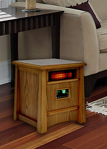 B00F4BHGBQ Lifesmart Corp Lifelux Series Ultimate 8 Element Extra Large Room Infrared Heater W/ Air Ionizer System Deluxe Wood Cabinet & Remote