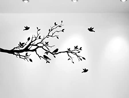 Wall decal tree branch