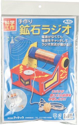 【科学工作】電気・磁気 手作り鉱石ラジオ(ゲルマニウムラジオ)