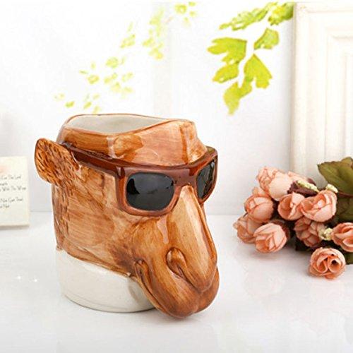 Creative 3D Ceramic Animal Sunglass Horse Coffee Mug Coffee Water Cup