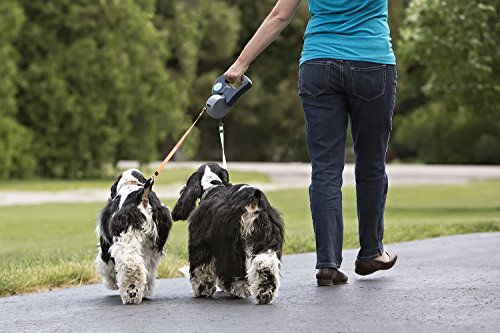 Wigzi Dual Doggie Retractable Leash for Dogs, Up to 10' Length roomble подушка mickey doggie