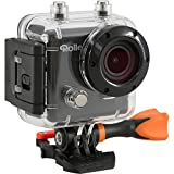Rollei Actioncam 410, Wi-Fi Action Camera Rollei, Risoluzione Full HD Video 1080p/60fps, Nero