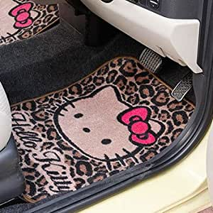 Amazon Com Hello Kitty Vertical Car Mat Animal Print