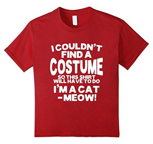 Funny Halloween Costume Cat Tee Shirt