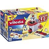 Vileda 146585 Premium 5 Komplett Set Box inkl. Multi-Active System mit 3-tlg. Teleskopstiel und Rotationseimer