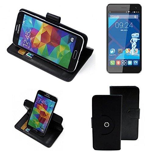360-funda-smartphone-para-haier-voyage-g31-negro-funcion-de-stand-caso-monedero-bookstyle-mejor-prec