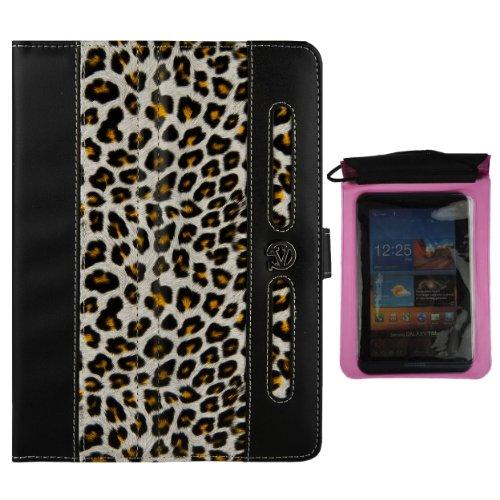 Vangoddy Dauphine Executive Portfolio Cover Case For Verizon Ellipsis 7 Hd Tablet 4G Lte + Pink Waterproof Sleeve