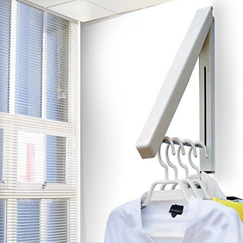 Advogue-Unsichtbare-Kleiderhaken-Klappbar-Wand-Kleiderstnder-Mounted-Gestell-Airer-platzsparend-Wand-Garderobe