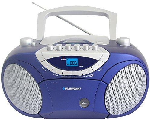 Blaupunkt-BB15BL-Boombox-mit-RadioCDMP3-PlayerKassettenplayer-mit-LCD-Dislay-USB-X-Bass-blau