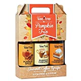 Skinny Syrups Trio Pack Pumpkin Spice Pumpkin Caramel and Pumpkin Cheesecake (3 - 12.7 Ounce Bottles) Gluten-Free and Kosher