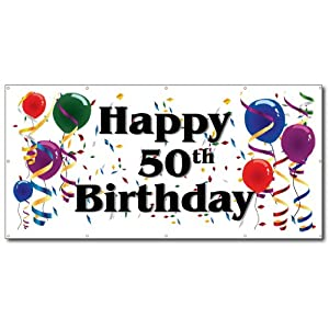 Happy 50th birthday banner publicscrutiny Images