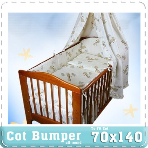 blue Baby bedding sets 2,3,6 or 11 pcs for cotbed 140x70 or cot 120x60 pink