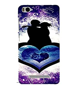 PrintVisa Romantic Couple Design Art 3D Hard Polycarbonate Designer Back Case Cover for Xiaomi Redmi MI 4C