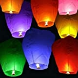 10 SKY LANTERNS (Wish Lanterns)- White ~ Generic