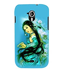 printtech Beautiful Anime Chinese Girl Back Case Cover for Micromax Canvas HD A116::Micromax Canvas HD Plus A116Q