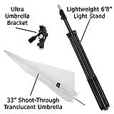 Fotodiox Ultra Heavy Duty Flash Umbrella Bracket Kit -- With 1x Ultra Bracket, 1x Light stand, 1x 33