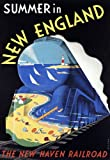 R15 Vintage New Haven Summer In New England Railways American Travel Poster Re-Print - A2+ (610 x 432mm) 24