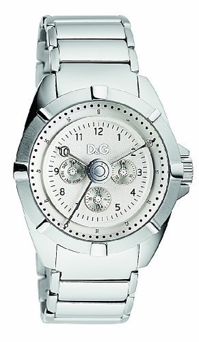D&G Men's Watch DW0609 with Silver Multi Function Dial,Stainles Steel Case and Bracelet