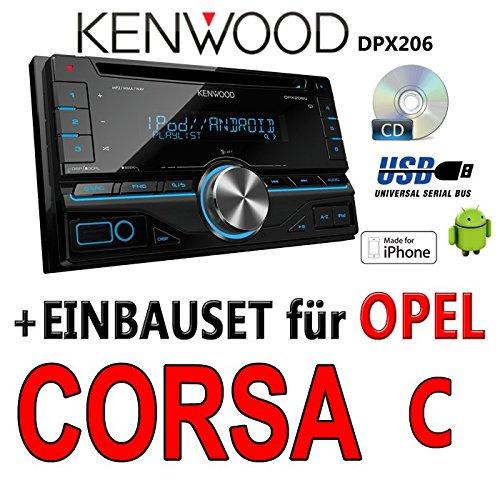 Opel corsa c, noir-kenwood dPX 206-2DIN uSB