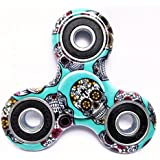 Discount Retail Fidget Spinner High Speed 1-3 Min Smooth Spin With Lowest Sound And Light Weight (Green Skull)