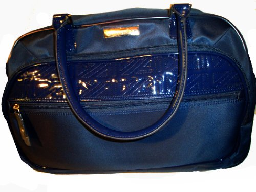 "Anne Klein Anne Klein Women's 20"" Wheeled Duffle Quilted Detail Luggage Carry-On, Navy"