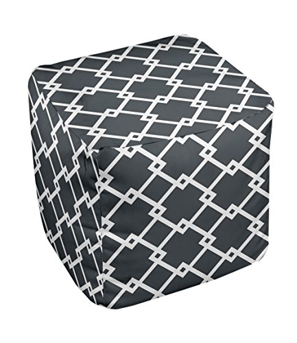 E by design FG-N10-Black-13 Geometric Pouf - 1