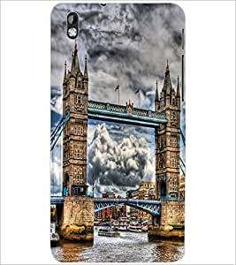PrintDhaba LONDON BRIDGE D-6475 Back Case Cover for HTC DESIRE 816 (Multi-Coloured)