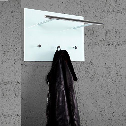 PRAKTISCHE-WANDGARDEOBE-AZZARETTI-Garderobe-mit-Haken-Handtuchhalter-aus-Glas-und-Chrom