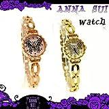 Anna Sui アナスイ 財布 腕時計 アクセサリー アナスイ バタフライ ウォッチ 全2色 ゴールド 箱付きピンクゴールド 並行輸入品