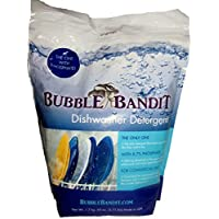 Bubble Bandit Dishwasher Detergent with Natural Phosphates. The Best Dishwasher Detergent for Spotless Dishes in Hard Water! ALL-IN-ONE (Soak, Wash & Rinse). One Bag (3.75 lbs.)-