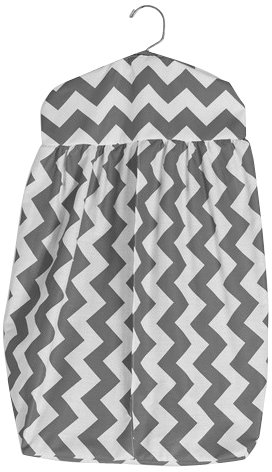Baby Doll Chevron Diaper Stacker, Grey