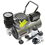 Pro Artists Air Brush Spray Kit 7pc With Air Compressor 1 Pack/S