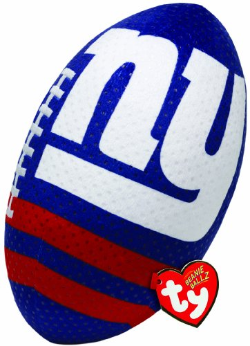 Ty Beanie Ballz NFL RZ New York Giants Football Plush - 1