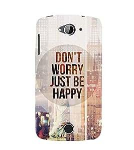 Printvisa Premium Back Cover Be Happy Quotation Design For Acer Liquid Z530