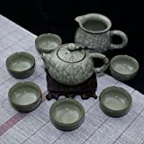 Ufingo-Cute Ice Crack Green Glazed Beautiful Porcelain Kung Fu Tea Set