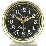 Alarm Clock metal case wind-up loud bell alarm, key-wound design, Gold