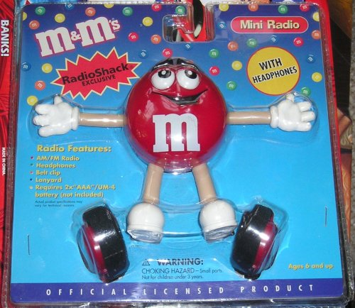 M & M Mini Radio With Headphones