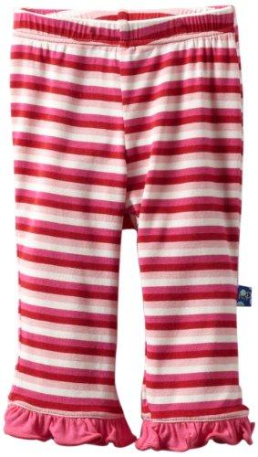 Kickee Pants Baby-Girls Infant Print Ruffle Pant, Candy Stripe, Newborn front-320171