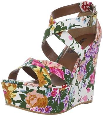 MADELINE girl Women's Wildflower Wedge Sandal,White,8.5 M US