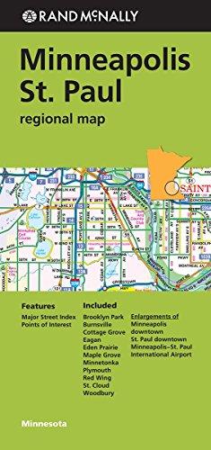 Rand Mcnally Minneapolis/St. Paul, Minnesota Regional Map