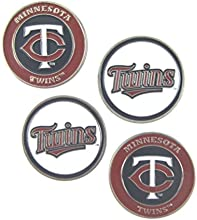 Minnesota Twins Double Sided160Golf Ball Markers Set of 4