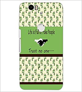 PrintDhaba Quote D-3834 Back Case Cover for HUAWEI NEXUS 6P (Multi-Coloured)