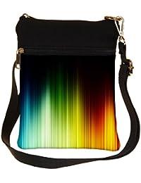 Snoogg Multicolor Pattern Design Cross Body Tote Bag / Shoulder Sling Carry Bag