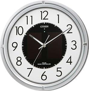 CITIZEN (シチズン) 掛け時計 エコライフM770 ソーラー 電波時計 4MY770-019